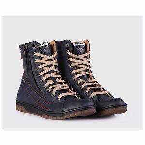 Men's Diesel D-Valadium Leather Boots 10 US!